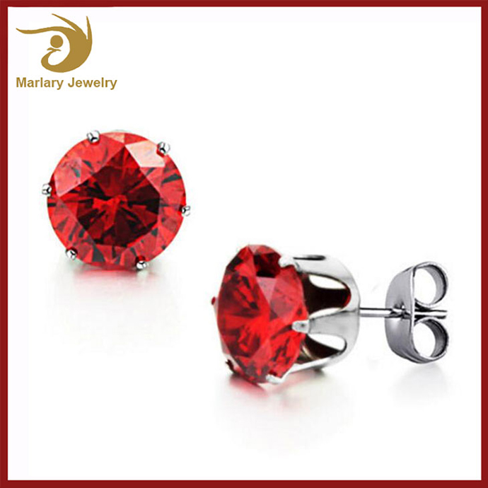 Fancy Earrings For Party Girls,Single Stone Zirconia Daily Wear Earrings,Simple Stainless Steel Stud Earrings Designs
