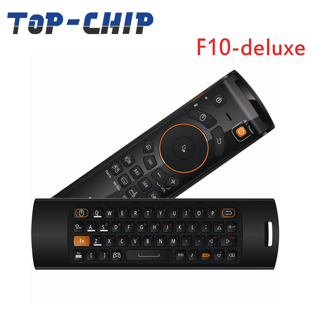 Original New MELE F10 Deluxe 2.4GHz Mini Fly Air Mouse 68 Key Wireless Keyboard Remote Control for PC/Notebook