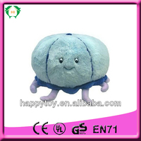 HI CE lovely blue stuffed cuttle fish plush toy
