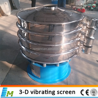 Newest design circular vibrating screen machine