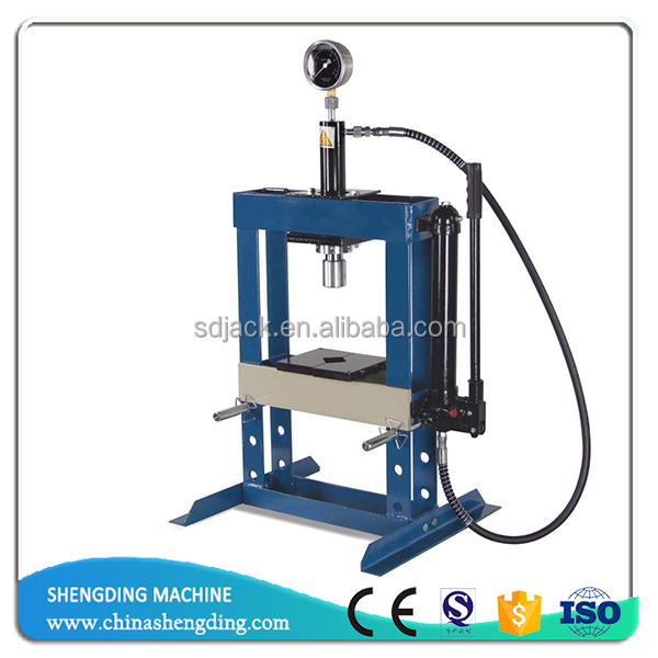 10ton Hand Operated benchtop hydraulic shop press with gauge