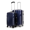 royal ABS luggage bag and PC trolley luggage with 360 degree universal wheels