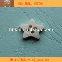 HBK white star shaped buttons