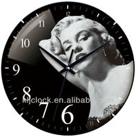Wall Clock Hands WH-6775 Marilyn Monroe Picture
