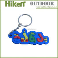 Manufacture custom made soft rubber keychain PVC 3D key chain
