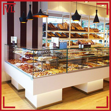 Healthy nature wood supermarket used bakery display cases for sale