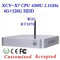 Cheap Mini Desktop PC Intel Core i7 Mini PC Thin Client X7 CPU random delivery X86 Board computer 4G RAM 320G HDD