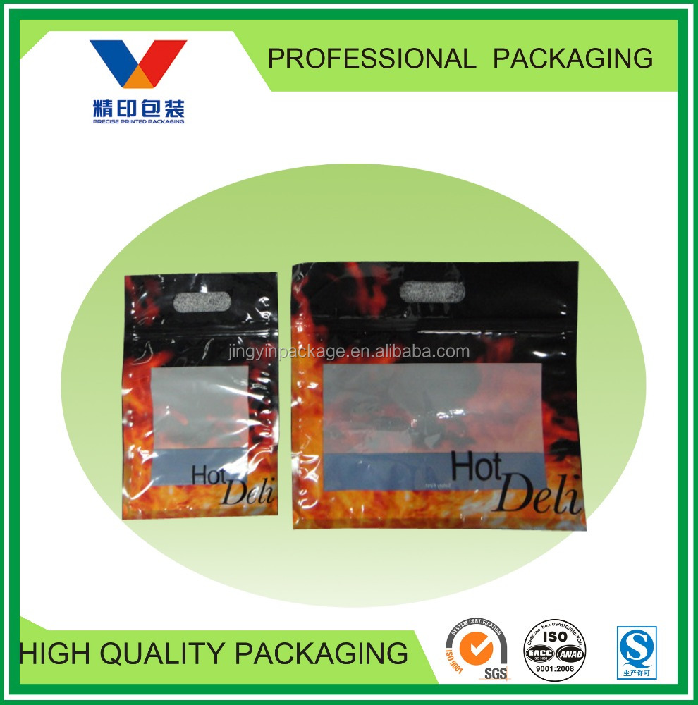 resealable plastic bags with handle for fried chicken/plastic bag with zipper