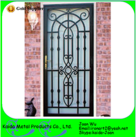 Ornamental Security Iron Grill Door Design For Home