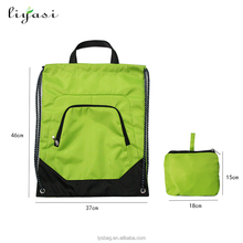 210D Polyester Drawstring Bag/Customize Outdoor Sports Backpack