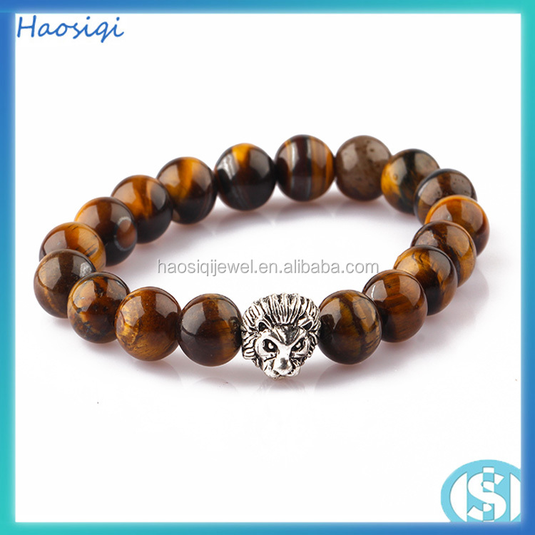 gemstone bracelets natural red stone leopard head men bracelet 2017