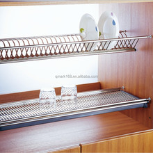 Wholesale Cheap Kitchen Cabinet Stainless Steel Two Tier Hanging Dish Rack