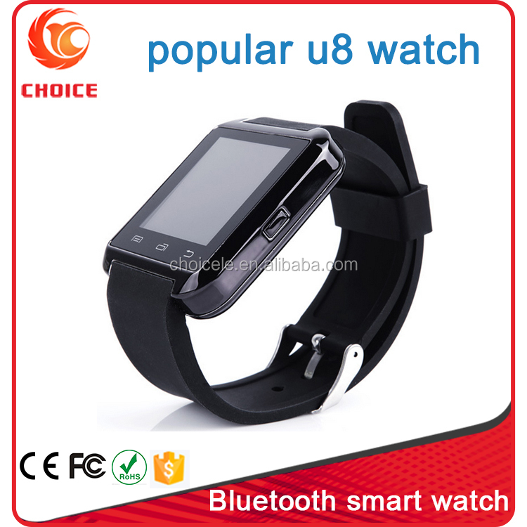 2015 new fashion bluetooth android smart watch U80 with Selfie function and phone calling
