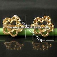 Beadsnice brass earrings indian jhumka earring 11X11mm With 13X13mm indian gold jhumka earring ID6588