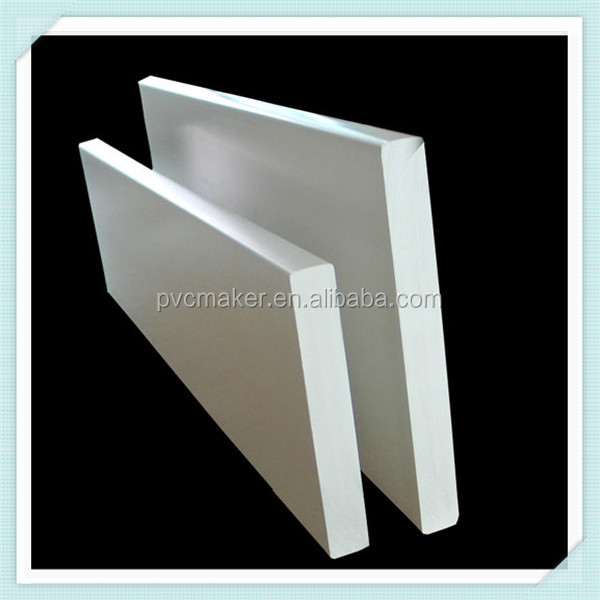 Green 2015 hot sale super white 4x8ft high density Glossy Pvc Foam Board For Furniture