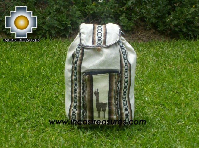 big alpaca travel backpack IVORY