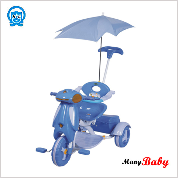 2015 plastic baby tricycle baby with handle bar/canopy, baby kids tricycle cheap