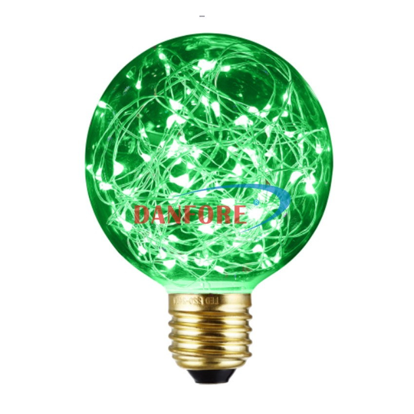 G80 G95 G125 decorative copper wire led string light RGB decoration led bulb for christmas holiday