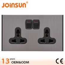Double 3-fetet fire-proof wall switch and socket,table with electric outlet