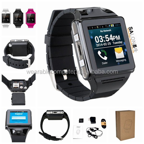 New products 2015 Latest wrist watch mobile phone, smart watch phone, bluetooth phone watch with Pedometer function