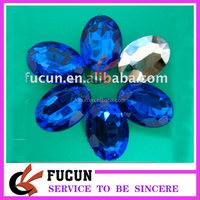 wholesale colorful high quality cheap price flat back oval acrylic rhinestone in stock