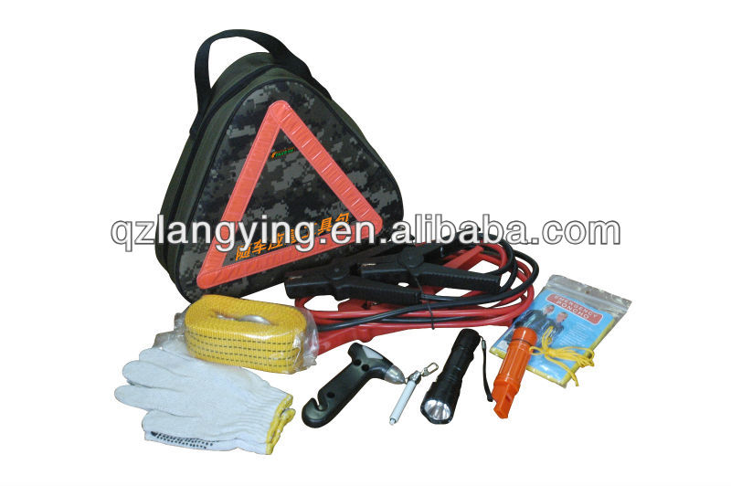 22pcs Car Emergency tool kit with hand tool bag