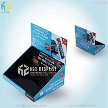 Custom Printed mobile phone accessories counter display cardboard pdq box