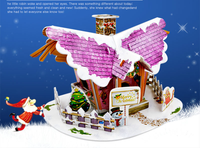 3D paper stereo puzzle Ship Christmas Cottage series model combination Gift toys