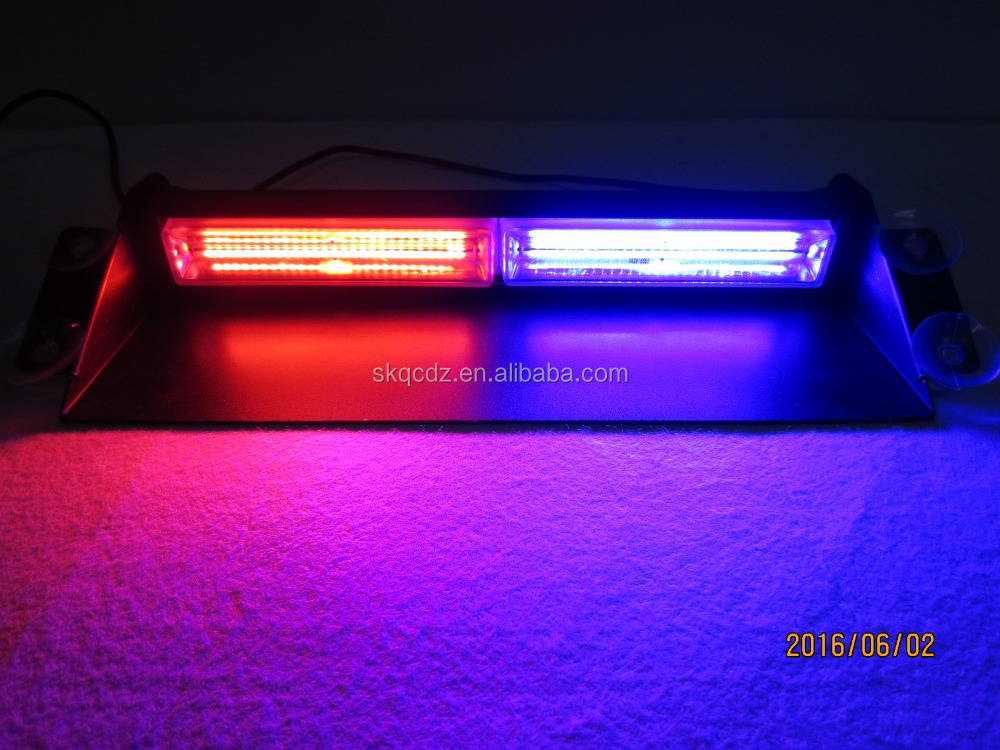 12V 24V red blue white amber LED dash warning light visor strobe light
