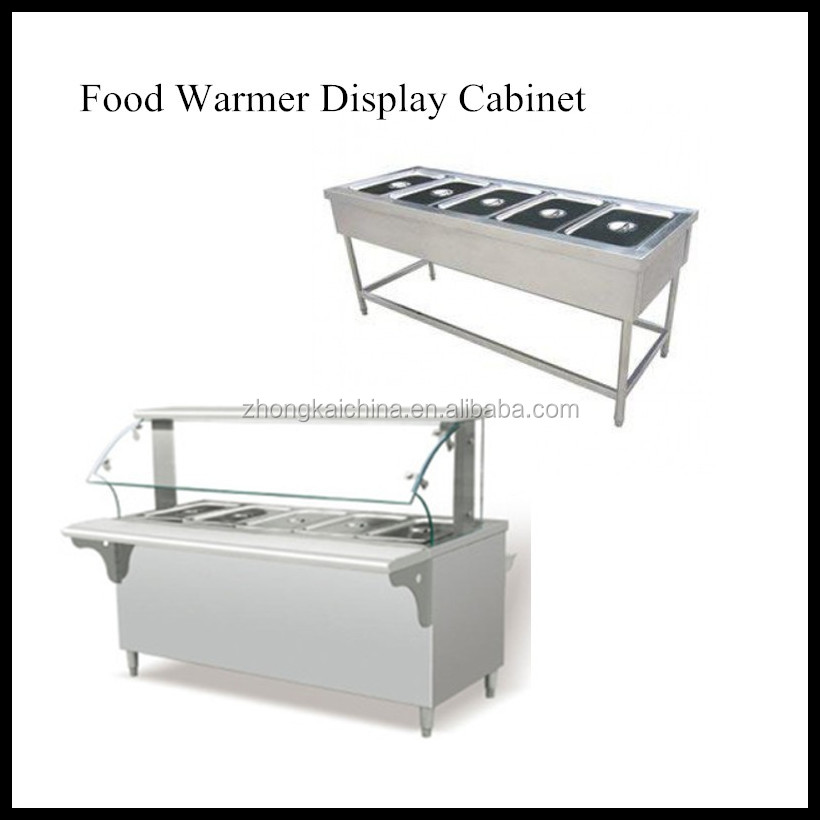 Industrial Food Warming Boxes ~ Commercial stainless steel hot food warmer display cabinet