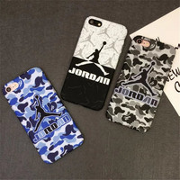SuperNBA Super Star Air Jordan Soft Cases for iPhone 7 6 6S 4.7 5 5s / Plus 5.5 TPU soft Mobile Accessories Covers Fundas