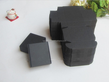 popular black chipboard die cut shipping packaging box