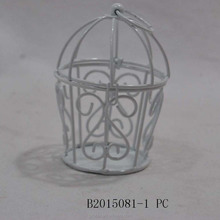 Wholesale handmade Mini White Metal Bird Cages for Wedding Favors & Home Decorations & Crafts