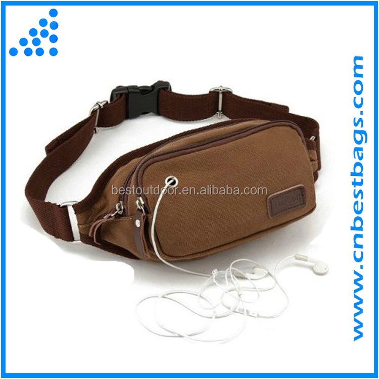 Bum Bag Travel Pouch Pack Adjustable Belt Men -Canvas