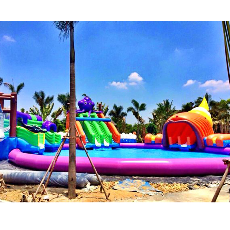 Barry Popular inflatable commercial water park on land for people