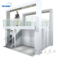 Exhibition equipment display stands modular double deck two story booth