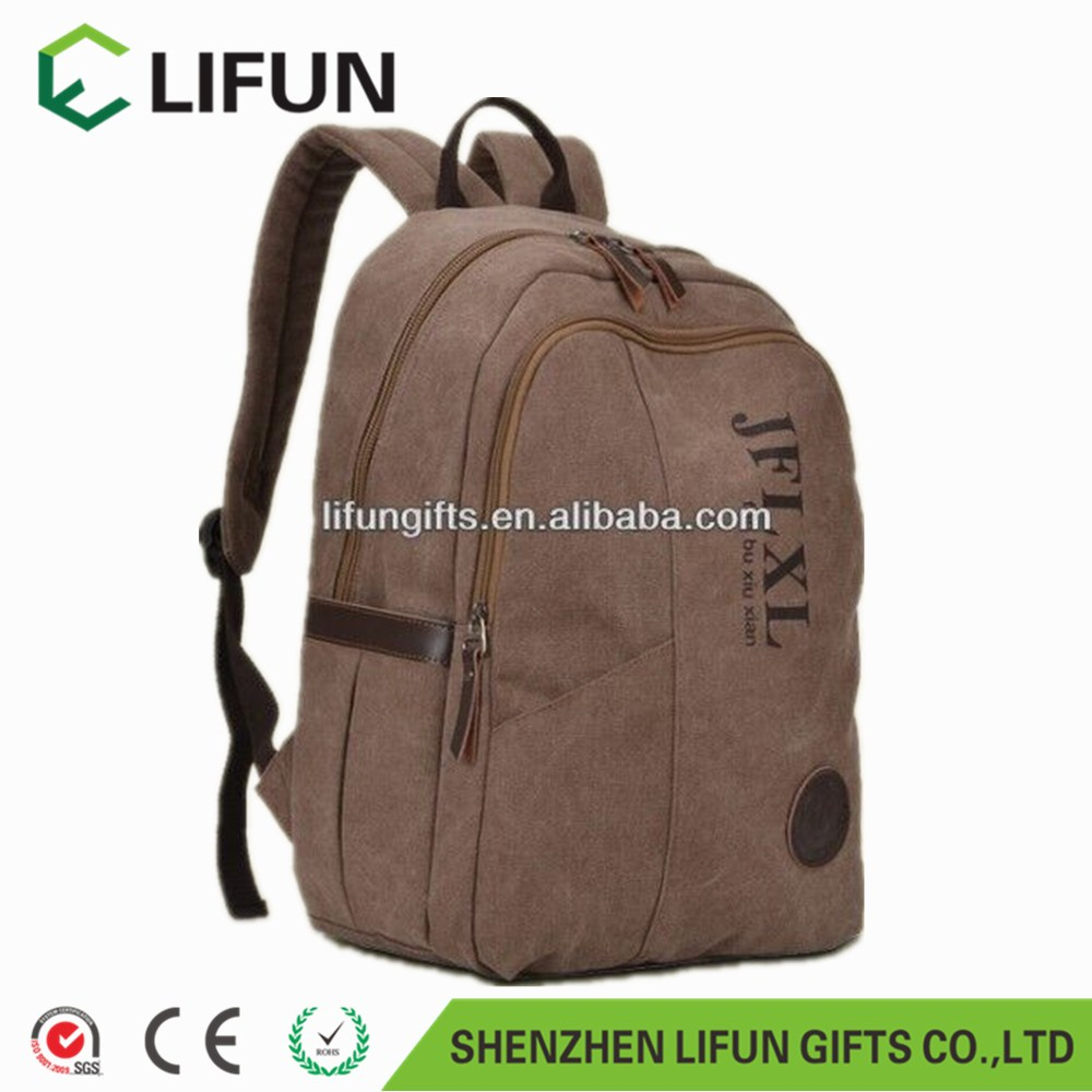 2017 Vintage Canvas Shoulder Bag Student Backpack Retro Travel Satchel Rucksack