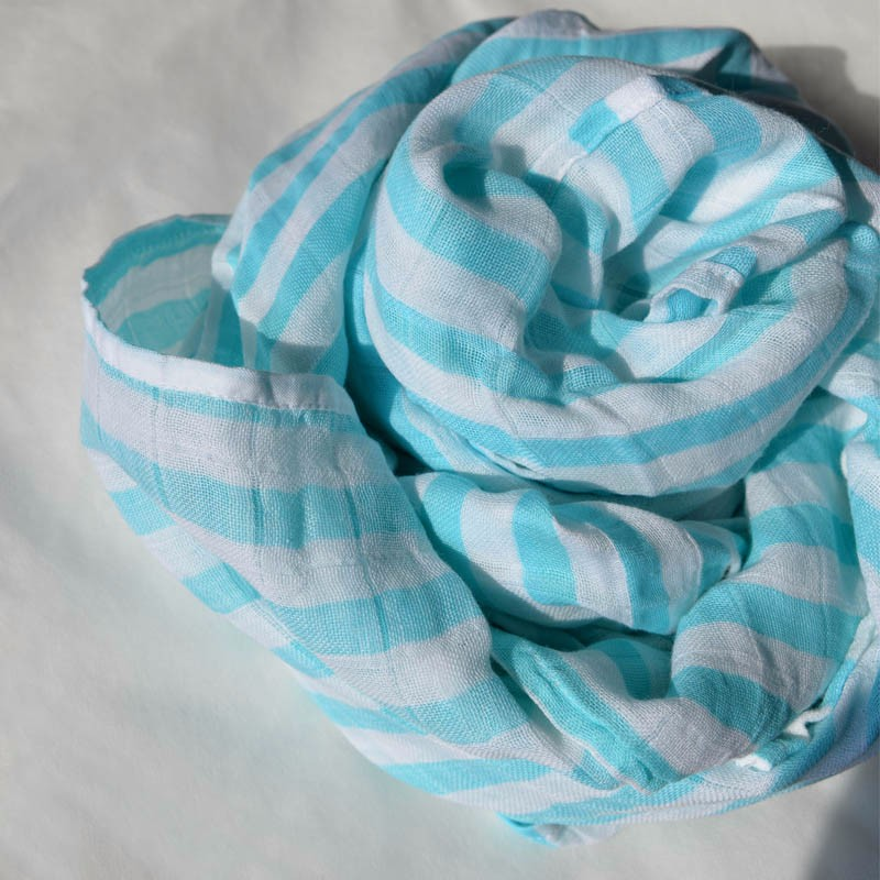 Solid Color Fashion Security Baby Muslin Swaddle Blanket