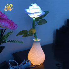 Simulation light up rose flower for wedding table centerpieces