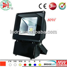 LED Light Manufacturer, AC90-240V Super Bright Outdoor LED Flood Light ztl 80W