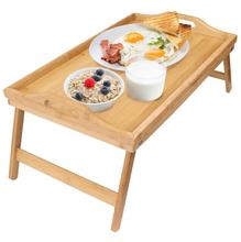 Premium bamboo wooden folding breakfast bed serving tray