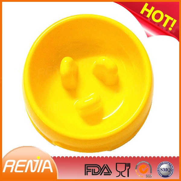 RENJIA best dog bowls for puppies dog bowl silicone purple dog bowl