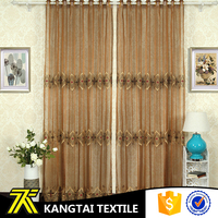 China classical design wholesale polyester embroidery sheer voile curtain fabric