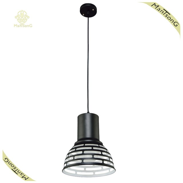 Simple Design Contemporary Dining Lamp Coffee Bar Pendant Lamp Home Living Room Light Black Color Lamp