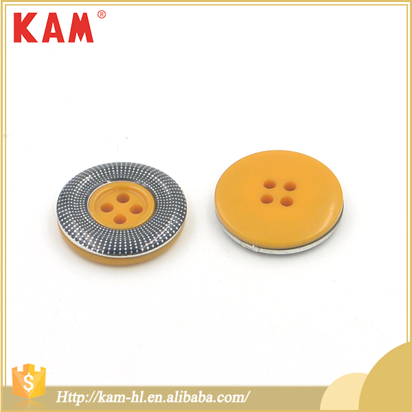 Garment accessories 4 holes dimater 22.9mm sewing wooden resin buttons
