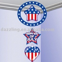 3-Tier Inflatable Hanging Decoration - 4th of July Patriotic