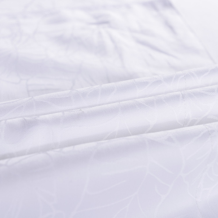 wholesale white jacquard weave cotton 5 star used hotel living sheets