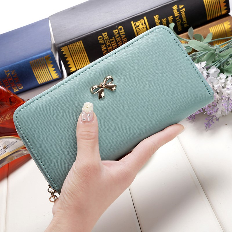 Wholesale RFID blocking zipper coin purse fashion wallet with card holder as for women