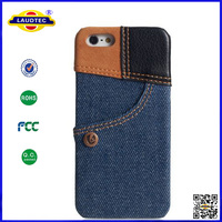 Hot Selling High Quality Jean Pattern Back Cover Case for iPhone 5/5s Laudtec