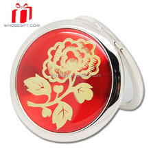 Round Compact Mirror / Small Hand Mirrors / Small Plastic Pocket Mirror